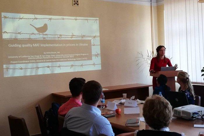 Во время тренинга организованного Всемирной Психиатрической Ассоциацией и Ассоциацией психиатров Украины, 15 сентября, 2018
