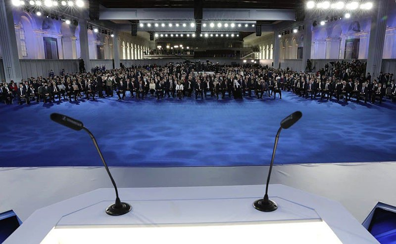 Передобращением Путина к Федеральному собранию.