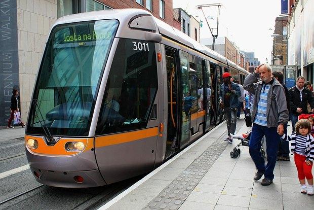 Трамвай в столице Ирландии Дублине