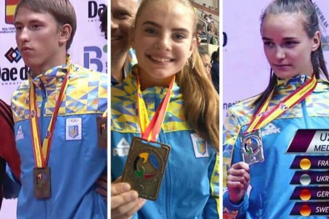 Украинские каратисты-юниоры взяли три медали на чемпионате мира