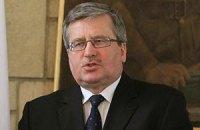 Коморовський запевнив, що Польща має намір підтримувати євроінтеграцію України