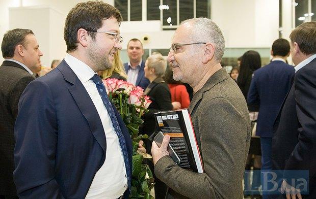 Максим Лавринович(слева) и Савик Шустер