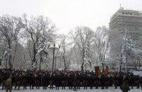 Сторонники УПЦ МП митингуют под Радой