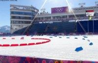 Українські біатлоністи провели перше тренування в Сочі