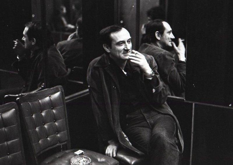 Богдан Ступка на творчому вечорі у Центральному будинку працівників мистецтв у Москві. 1986.