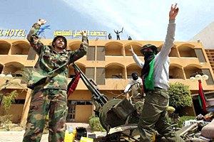 Ливийские повстанцы отвоевали у Каддафи город