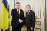 """Порошенко і єврокомісар Ган обговорили підготовку до саміту """"Східного партнерства"""""""