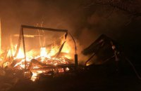 На недействующей базе отдыха в Одесской области сгорели 7 домов