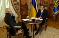 Интервью Януковича Коротичу покажут три канала