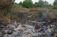 У Зайцевому через обстріли спалахнуло поле