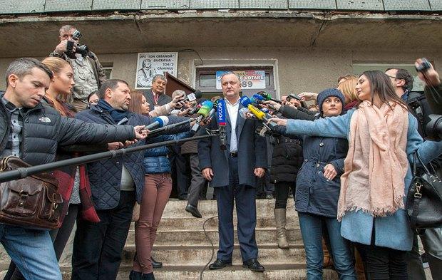 Игорь Додон после оглашения результатов выборов
