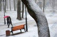 Первый настоящий снег в Киеве