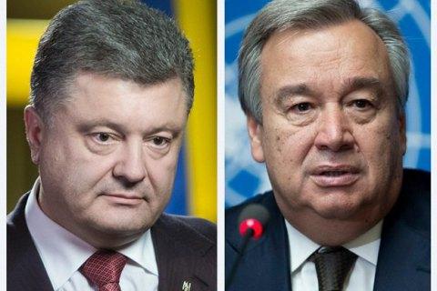 Порошенко встретится с генсеком ООН в ходе его визита в Украину 9 июля