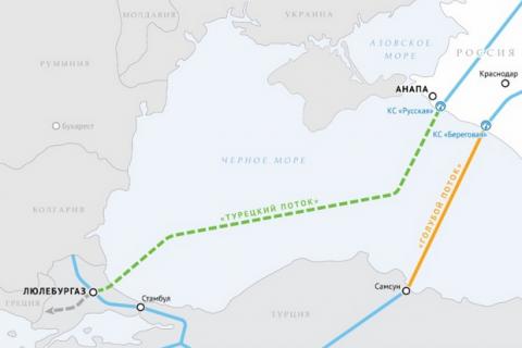 """Росія запустить """"Турецький потік"""" 8 січня"""