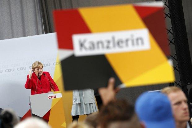 Меркель во время предвыборной поездки в Висмар, 19 сентября 2017