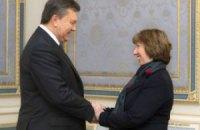 Янукович проводит очередную встречу с Эштон