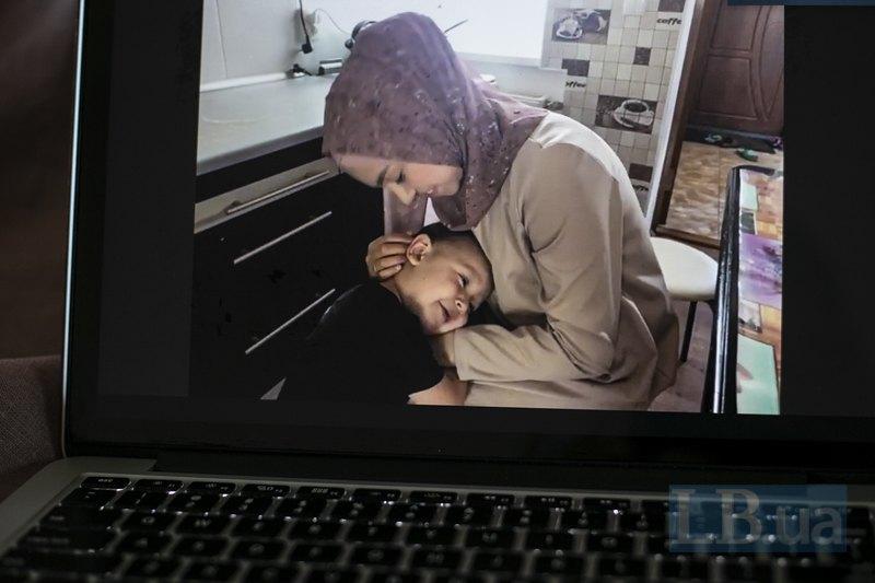 Ельвіє із сином