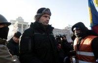 Кличко пошел на Майдан