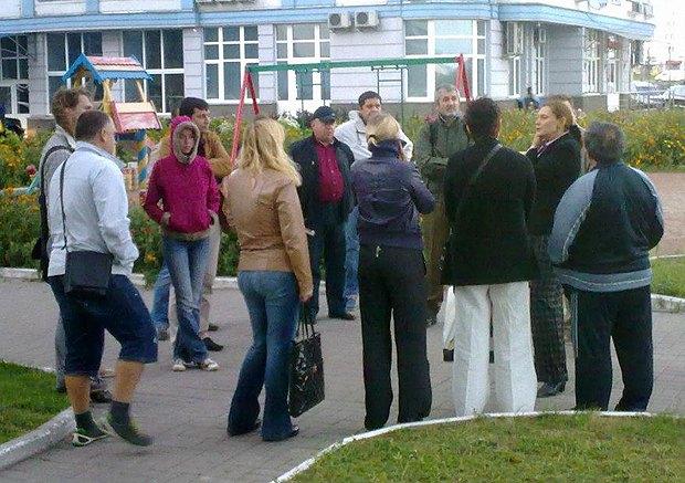 Встреча Татьяны Монтян с жильцами дома на Днепровской набережной