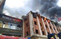 На колишньому заводі в Мукачеві сталася масштабна пожежа