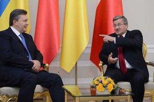 Президент Польши постоянно напоминает Януковичу о Тимошенко