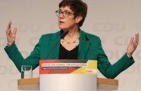 """Наступниця Меркель на посаді голови ХДС виступила на підтримку """"Північного потоку-2"""""""