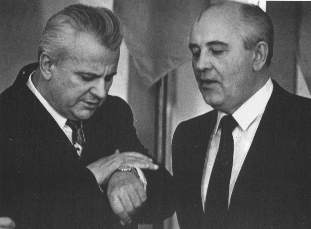 Леонід Кравчук і Михайло Горбачов, 6 листопада 1991 року