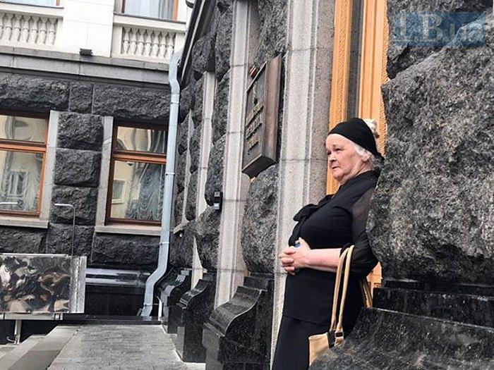 Мать убитой правозащитницы Ирины Ноздровськой Катерина Дуняк