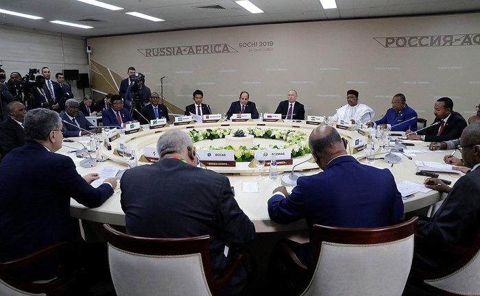 Встреча Путина с руководителями региональных организаций Африки