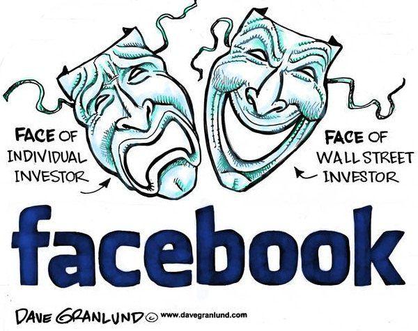Разные маски Facebook: грустная для индивидуальных инвесторов и веселая для инвесторов с Wall Street