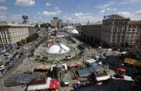 Киевскую фан-зону продлят до Бессарабской площади