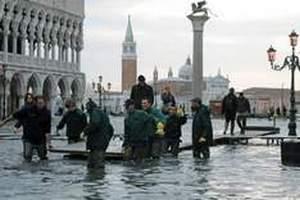 Из-за штормов в Италии затопило Венецию