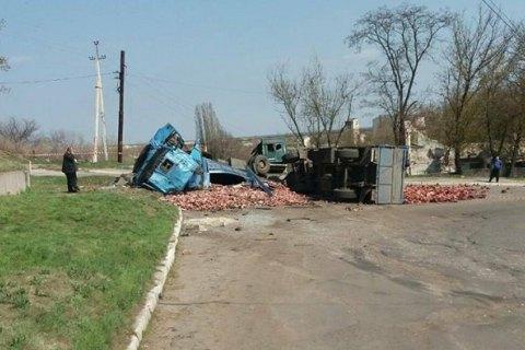 В Лисичанске при столкновении маршрутки с МАЗом пострадали 10 человек