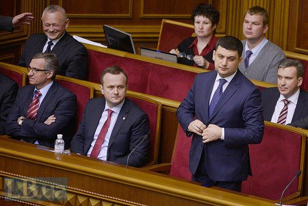 Справа налево в первом ряду: Владимир Гройсман, Остап Семерак, Александр Шлапак