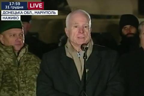 Маккейн: Путин никогда не победит украинский народ