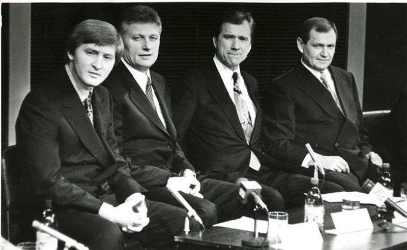 Через рік після загибелі Брагіна у «Шахтаря» з'явився новий президент, 11 жовтня 1996 року клуб очолив Ринат Ахметов, друг і фактично права рука загиблого Брагіна. На фото справа - наліво: Рінат Ахметов, Віктор Прокопенко, Равіль Сафіуллін і Валерій Яремченко.