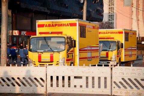 Комунальники завершили ремонт пошкодженого трубопроводу біля київського ТРЦ Ocean Plaza