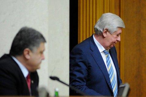 Порошенко звільнив Шокіна