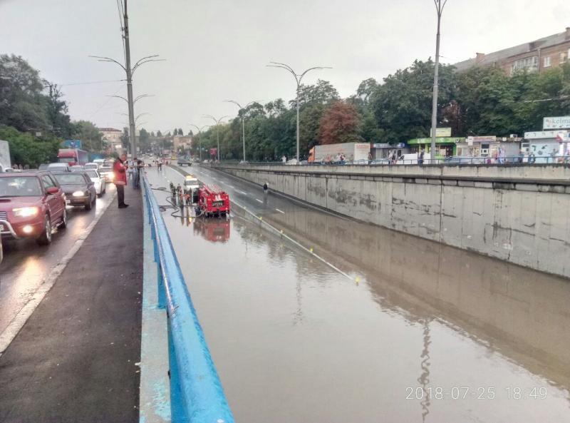 Последствия потопа на Дорогожичах в Киеве 25 июля