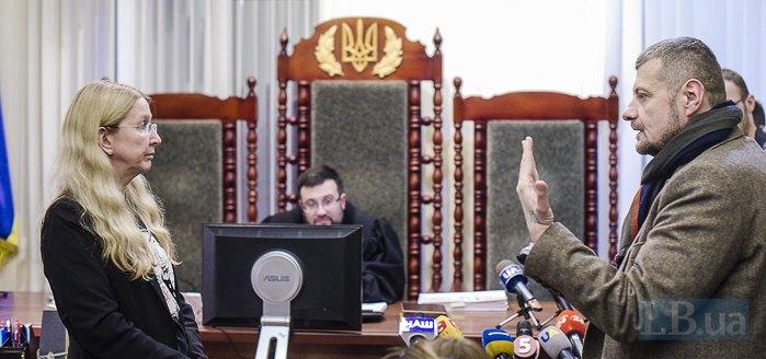 Уляна Супрун та Ігор Мосійчук під час засідання суду в Києві