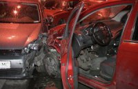 В Киеве на Троещине пьяный водитель протаранил шесть автомобилей