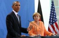 Обама и Меркель договорились не ослаблять санкции против России