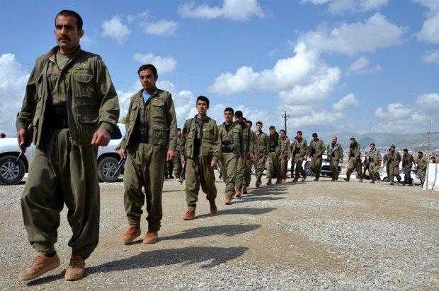 """Бойцы """"Рабочей партии Курдистана"""", сражающиеся против ИГ"""