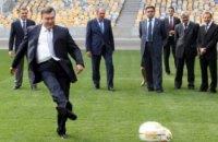 Януковича помітили на матчі Іспанія - Росія