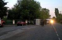 Пятеро пассажиров автобуса госпитализированы после ДТП в Черкасской области