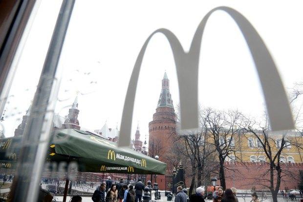 McDonald's на Манежной площади в Москве