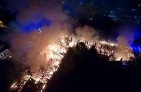 В Луцке ночью из-за пожара эвакуировали военный госпиталь