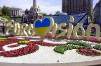 На Майдане в Киеве вытоптали клумбу с символикой Евровидения
