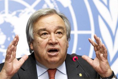 Генсек ООН призвал соблюдать договоренности о перемирии на Донбассе