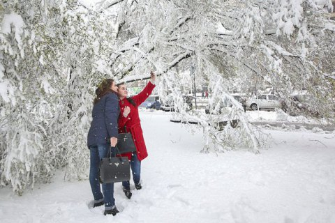Завтра в Киеве обещают небольшой снег, до -4 градусов